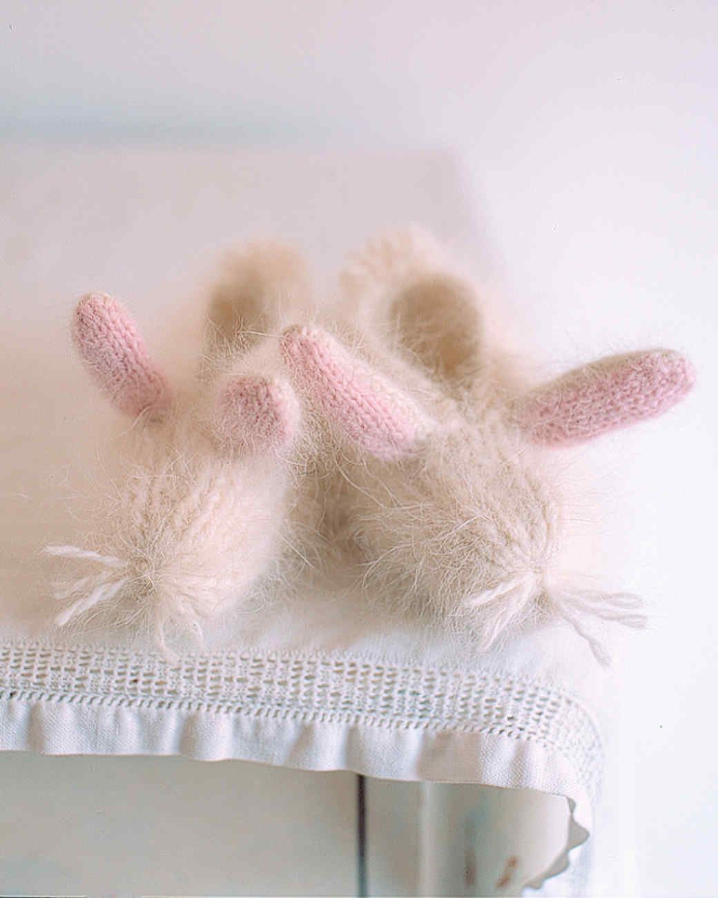 65bf31830756 Cozy and Cute Knit Bunny Slippers