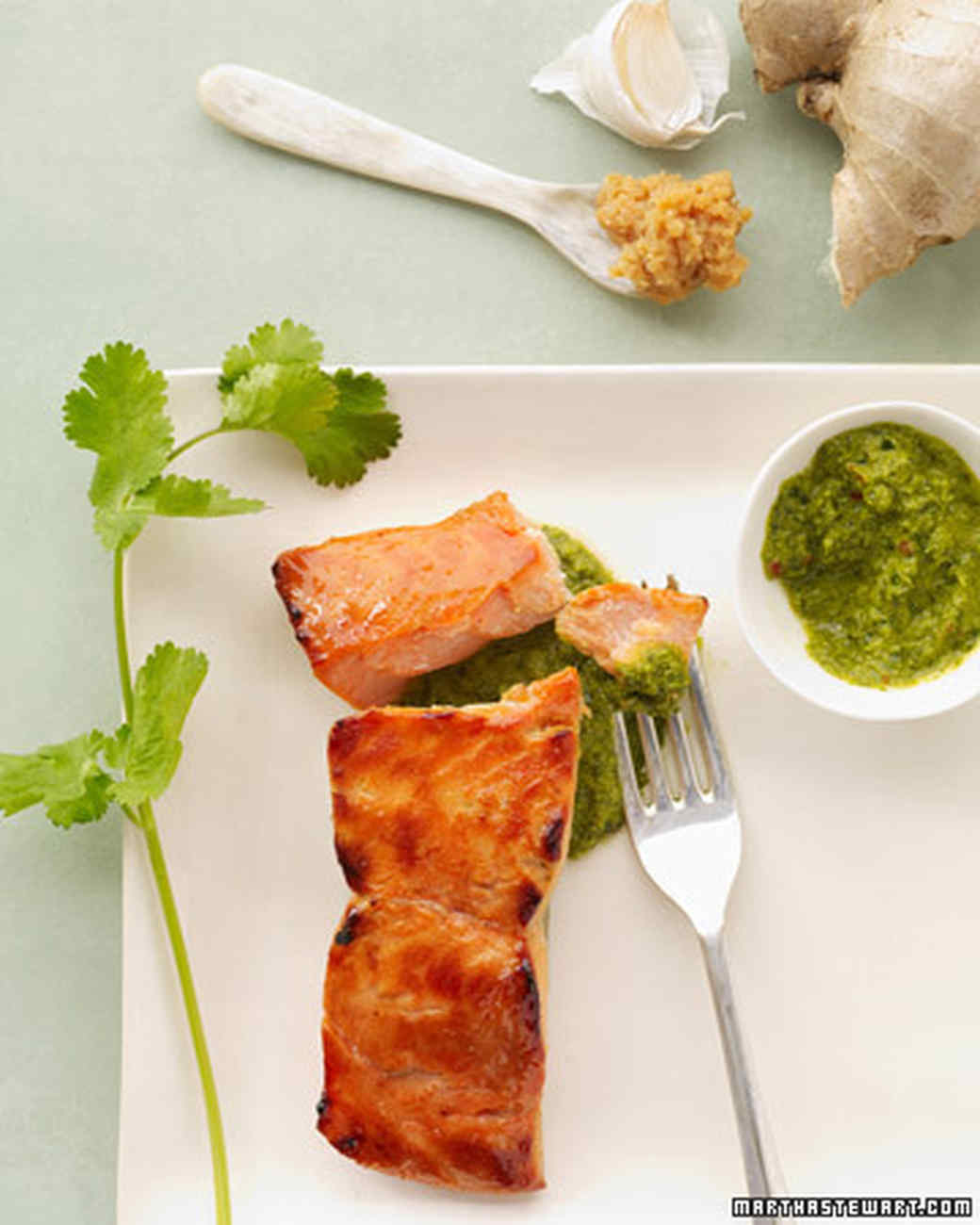 Heart healthy recipes martha stewart miso salmon with cilantro salsa forumfinder Image collections