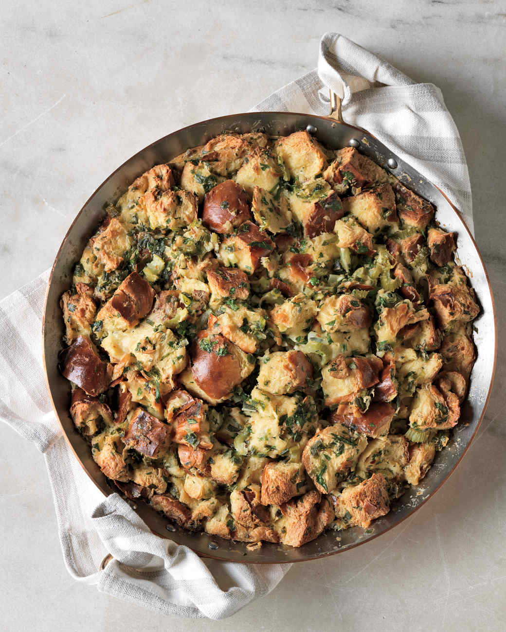 Herb-and-Scallion Bread Pudding