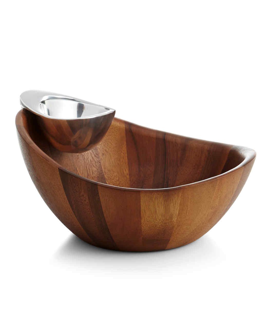 chip dip bowl nambe