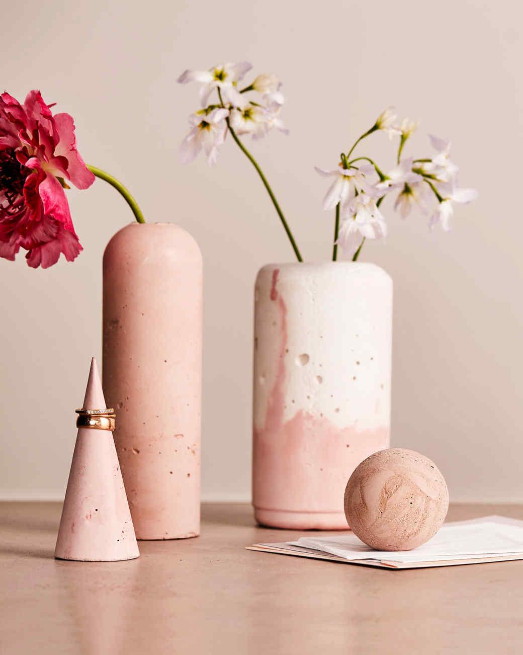 Concrete Vases Martha Stewart