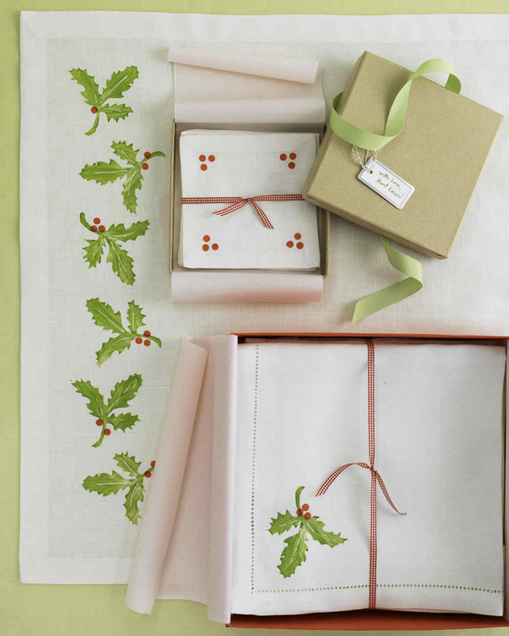 Block-Printed Holiday Linens