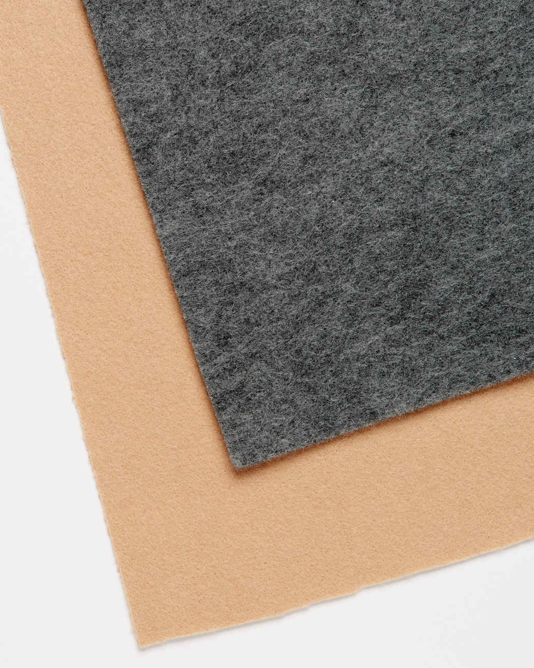 tan and charcoal embroidery felt