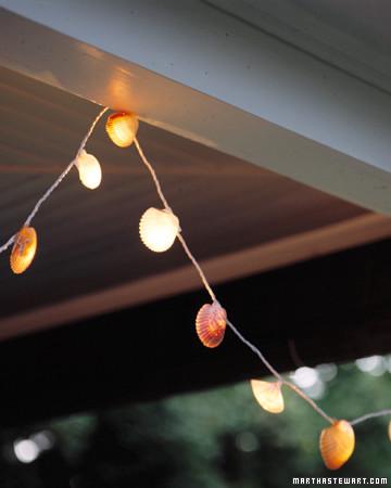 Seashell String Lights Outdoor : Seashell Lights Martha Stewart