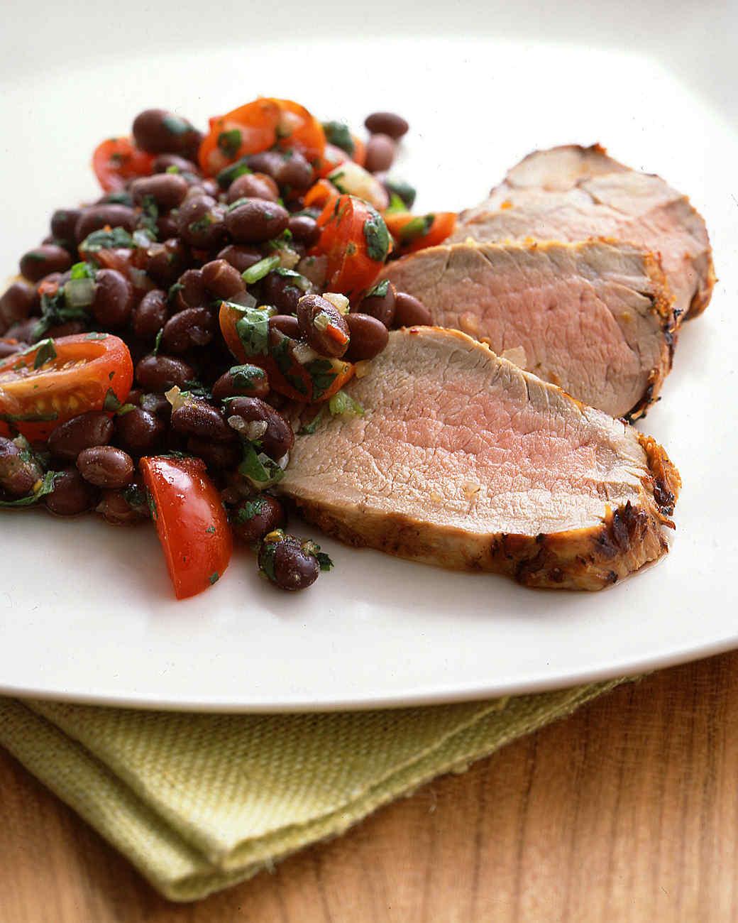 Chipotle-Marinated Pork Tenderloin with Black Bean Salsa