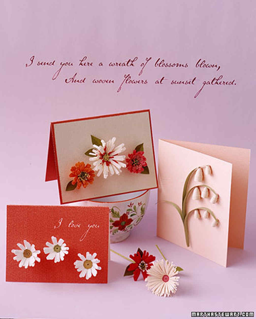How To Make Quilled Cards Martha Stewart