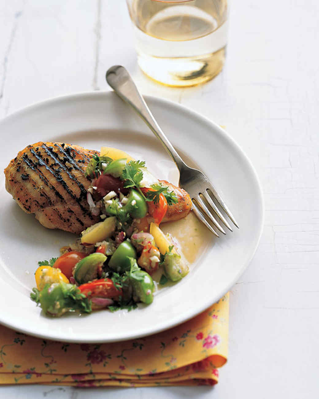 Grilled Chicken with Tomatillo-Tomato Salsa