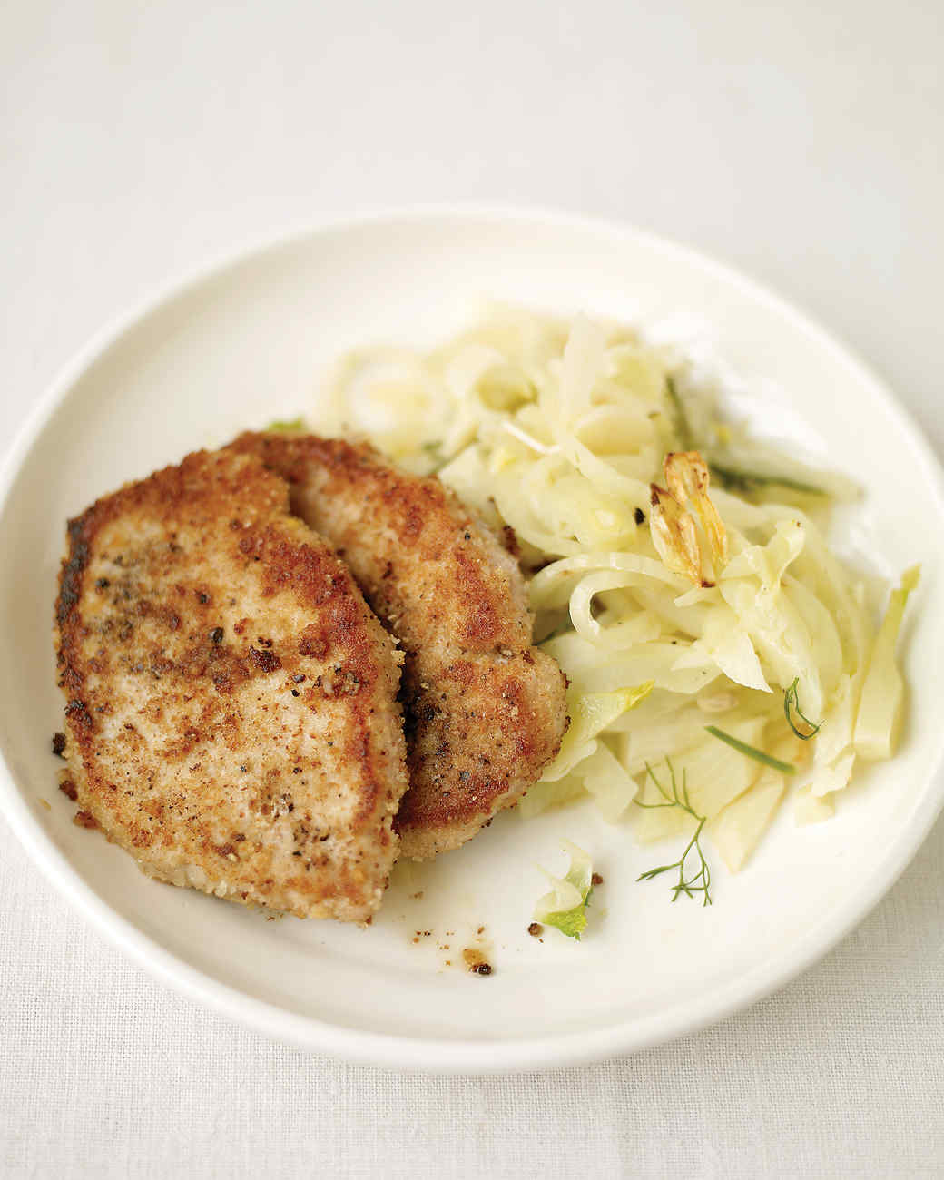 Pork Cutlets with Fennel