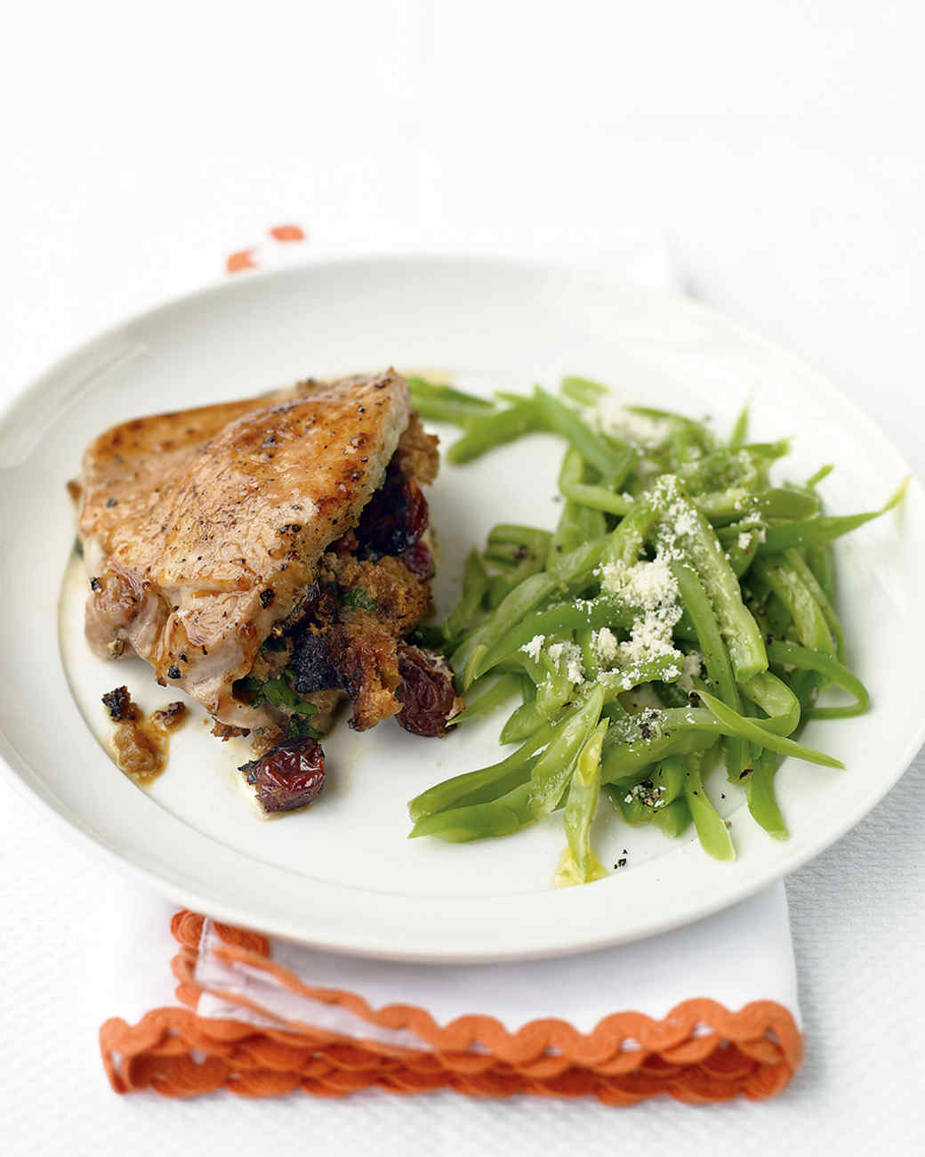 Raisin-and-Bread-Stuffed Pork Chops