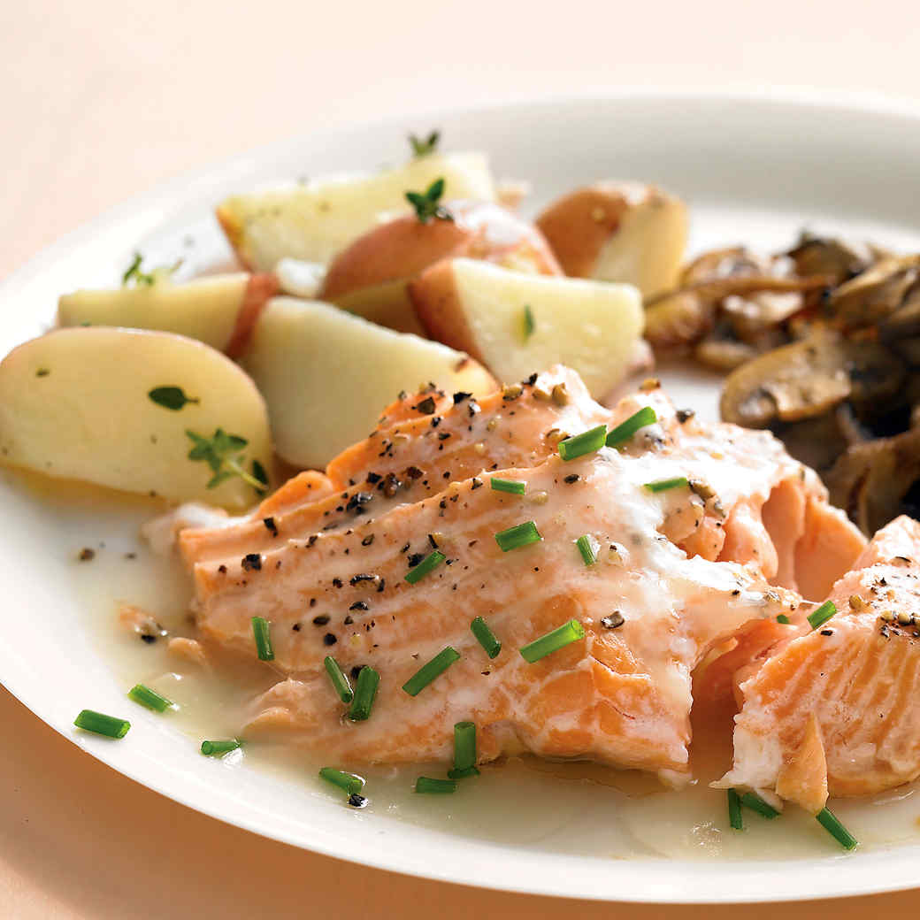 91c2fdcb3eed Roasted Salmon with White-Wine Sauce