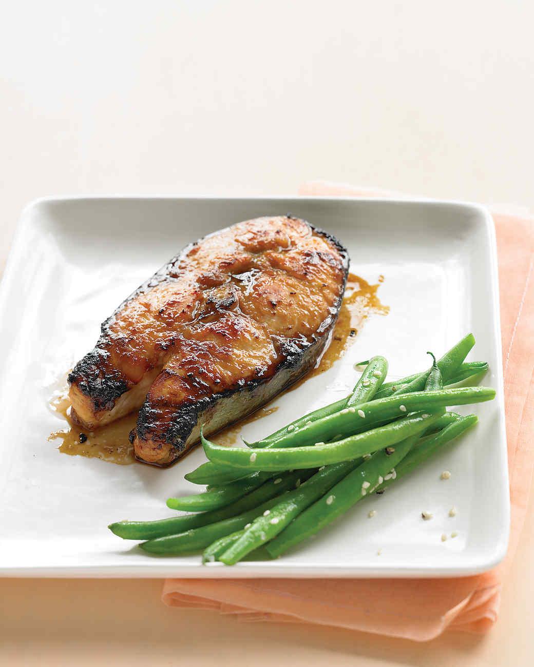 Soy-Glazed Salmon Steaks