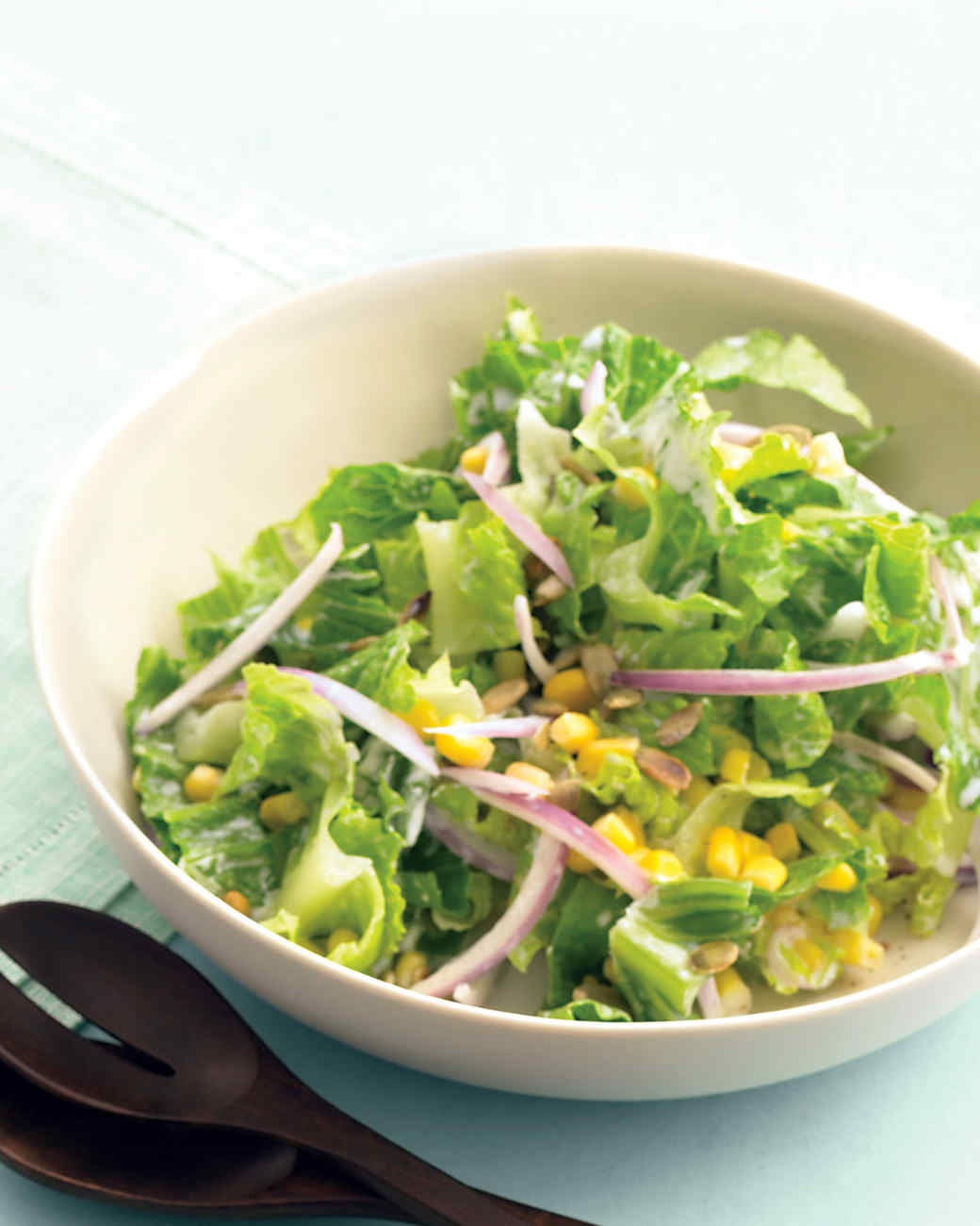 Romaine Salad with Corn and Pepitas