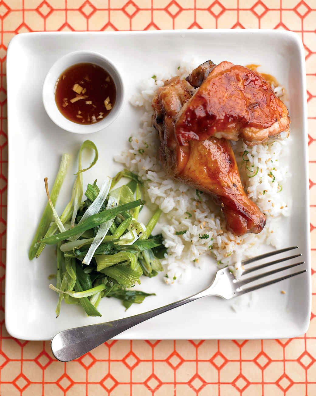 Teriyaki Chicken with Roasted Scallions