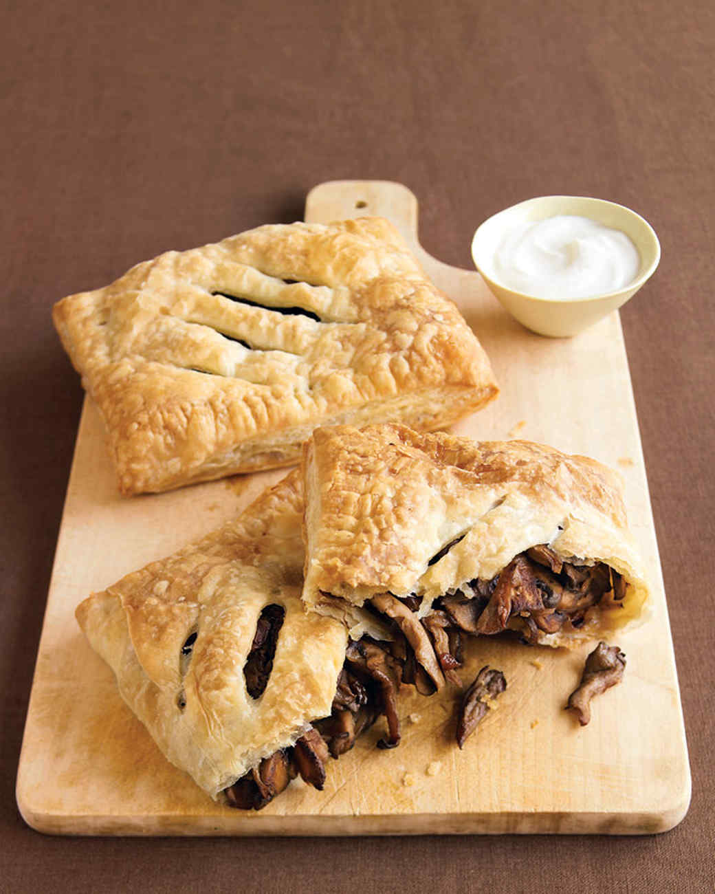 Mushroom Turnovers with Sour Cream