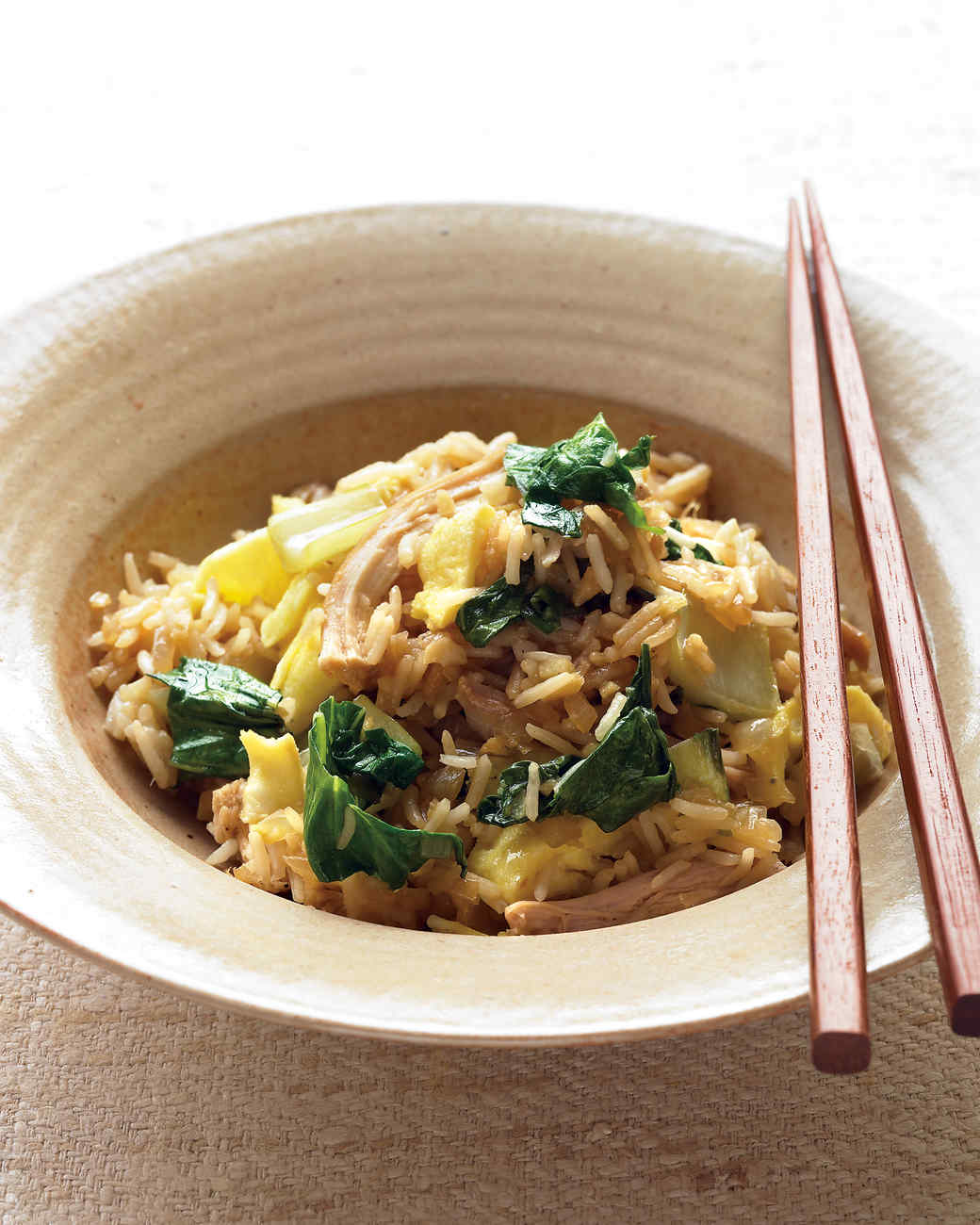 Chicken Fried Rice with Bok Choy