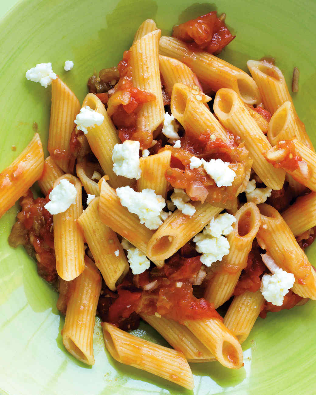 Pasta with Eggplant-Tomato Relish