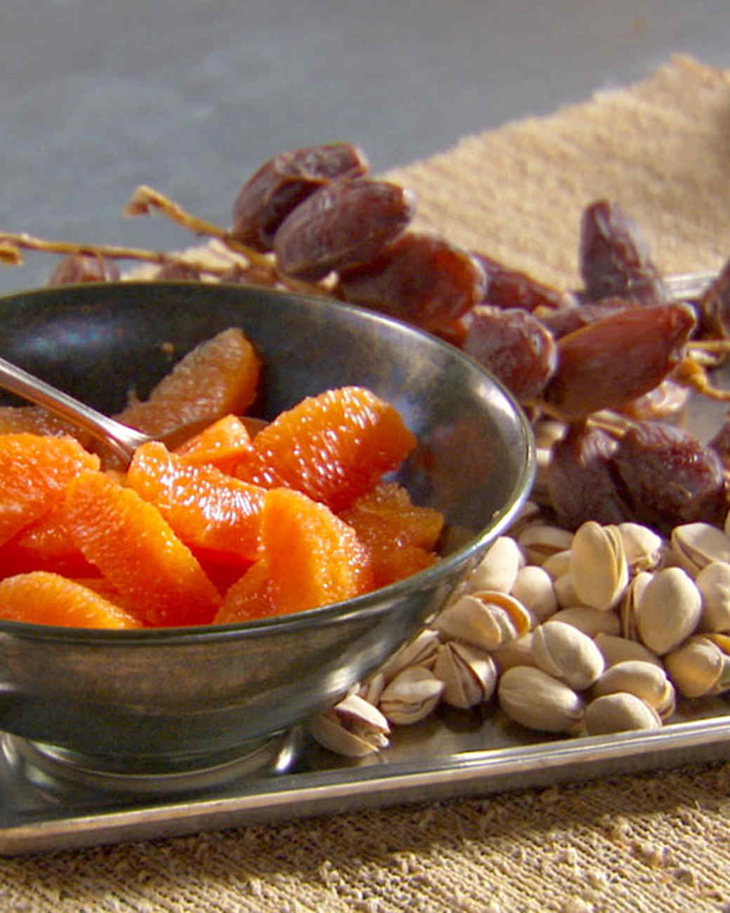 Macerated Oranges with Dates and Pistachios