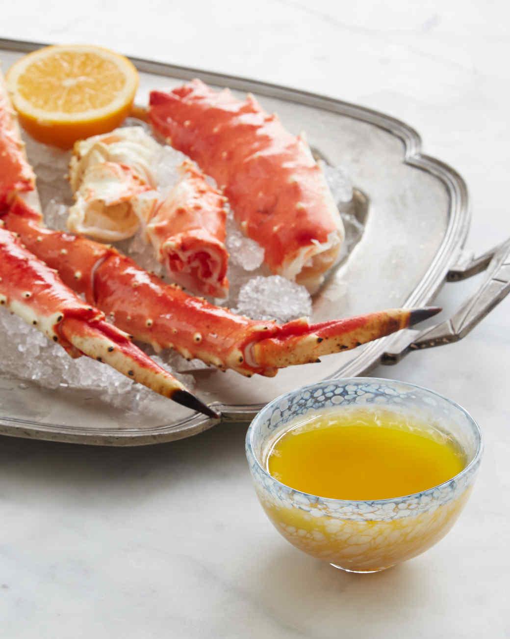 Alaska King-Crab Legs with Meyer Lemon-Miso Butter