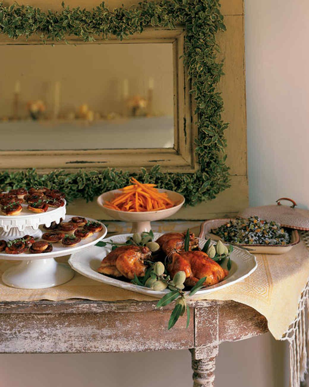 Christmas Party Buffet Menu Ideas Part - 28: Martha Stewart