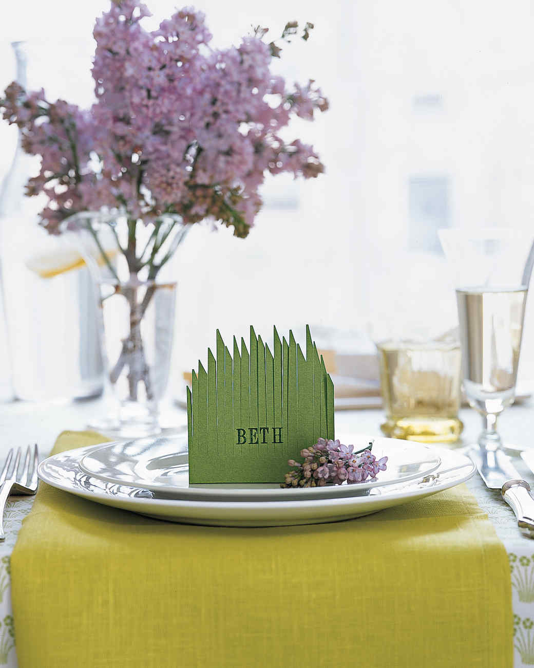 Grassy Place Card, No Mowing