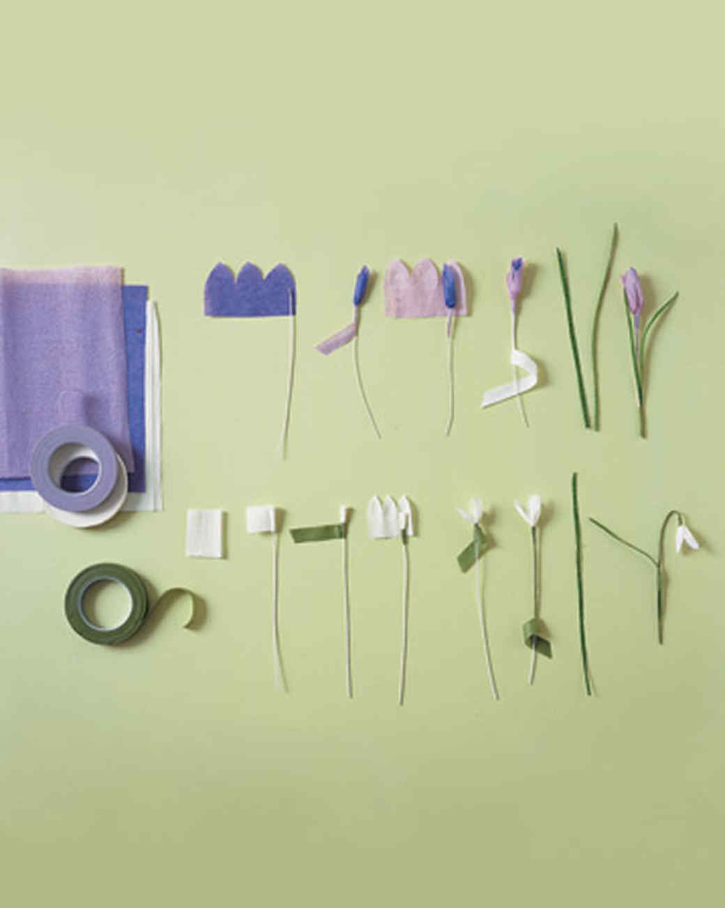 Crepe paper crocuses and snowdrops martha stewart introduction dhlflorist Images