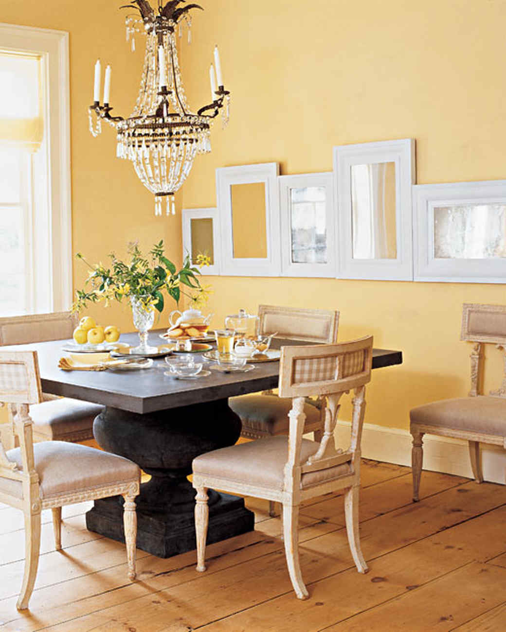 Living Room Yellow Walls Yellow Rooms  Martha Stewart