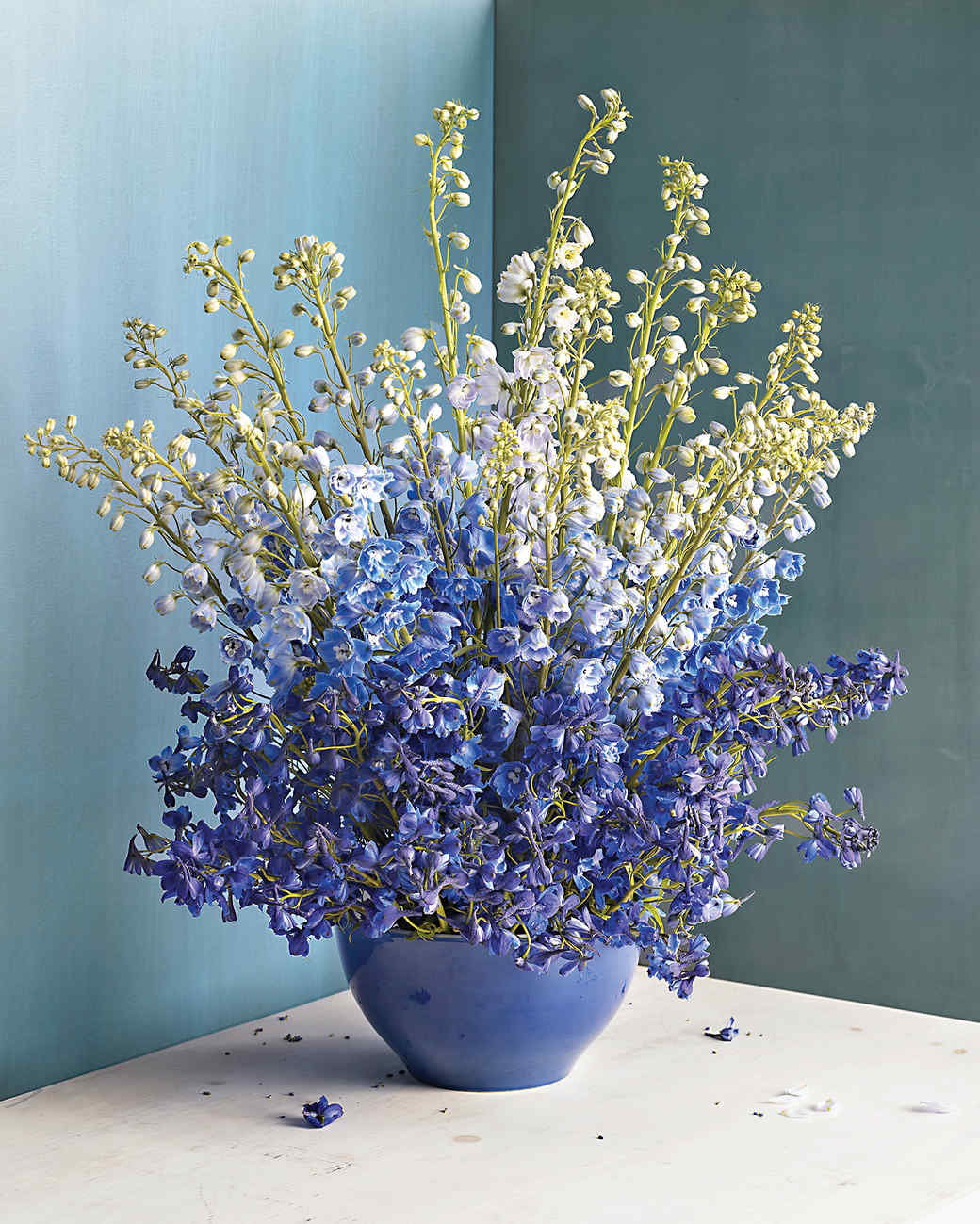 Purple flower arrangements martha stewart purple delphinium arrangement izmirmasajfo