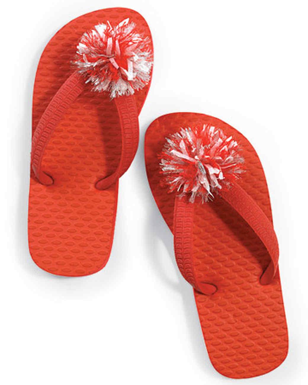 Pom-Pom Flip-Flops
