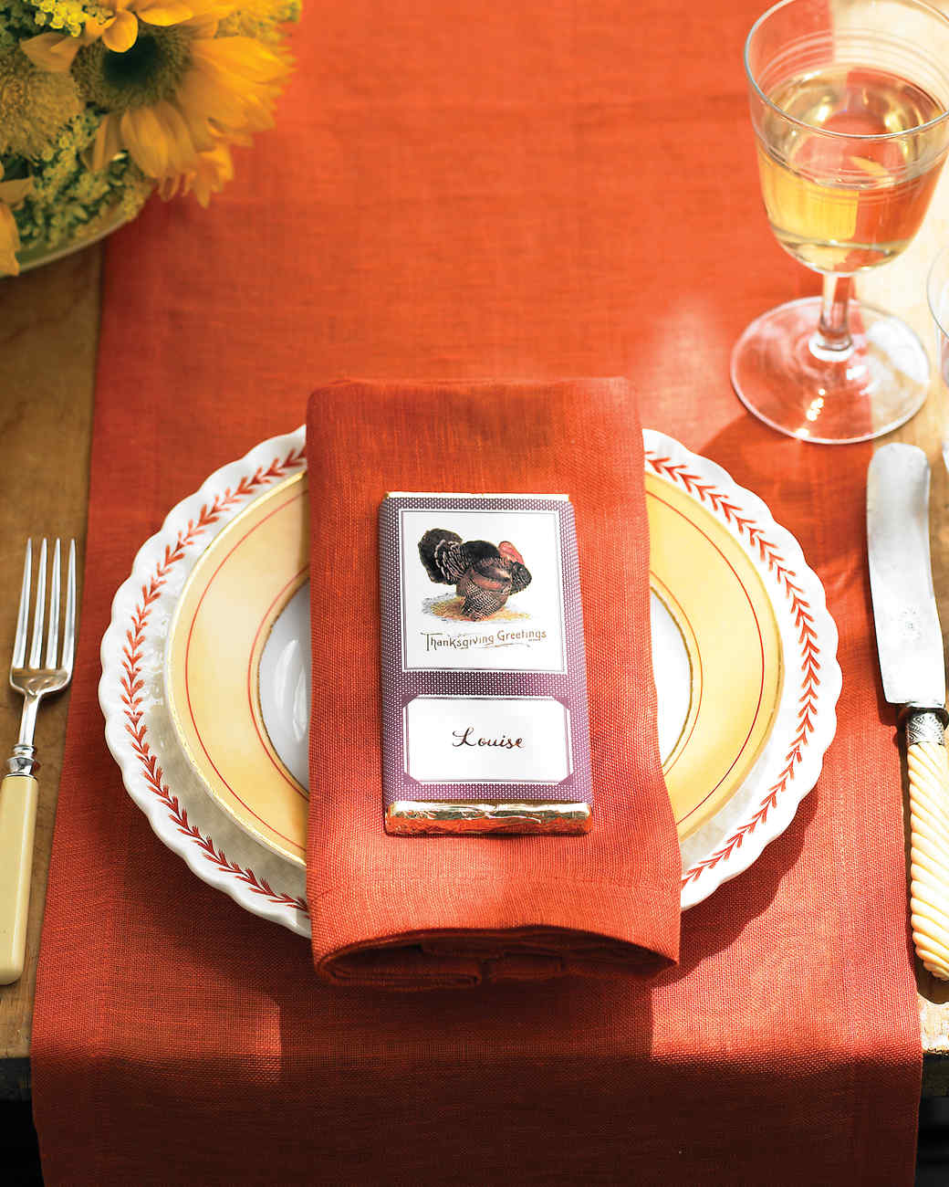 Thanksgiving Chocolate-Bar Place Card