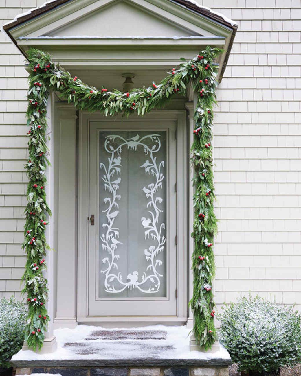 Winter Welcome Silhouette Door Decoration Martha Stewart