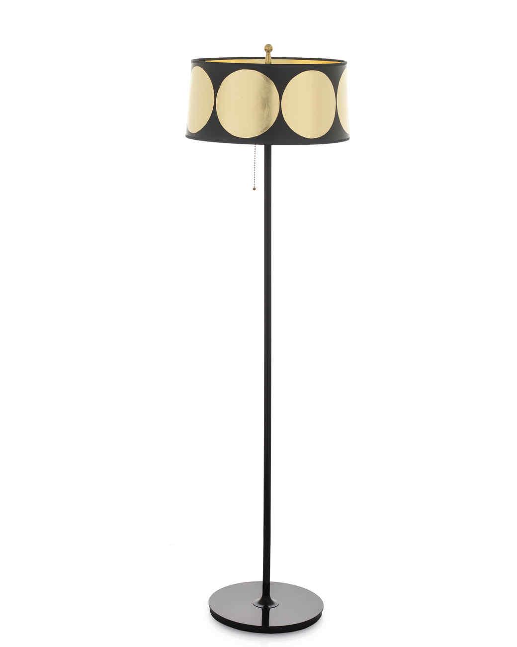 Gilded Floor-Lamp Shade