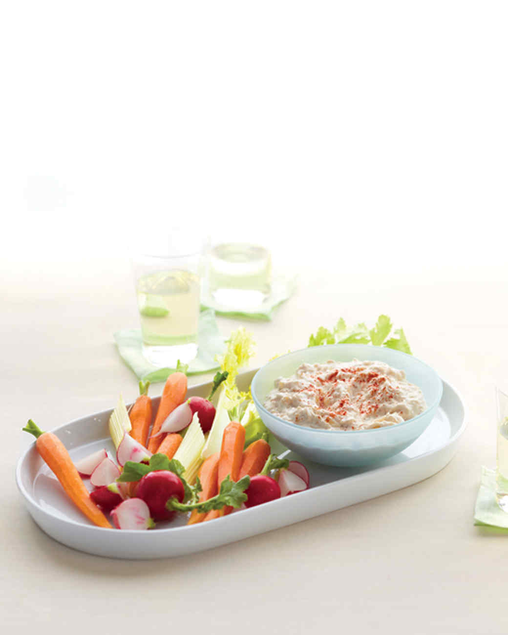 Caramelized-Onion Dip with Vegetables