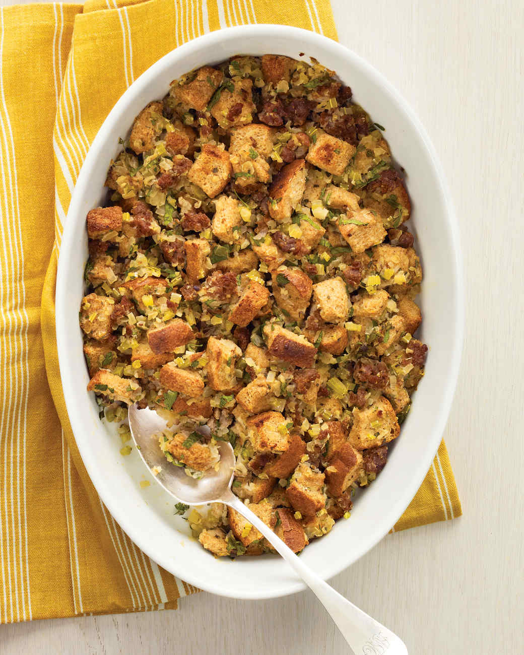 Whole-Wheat Stuffing with Turkey Sausage