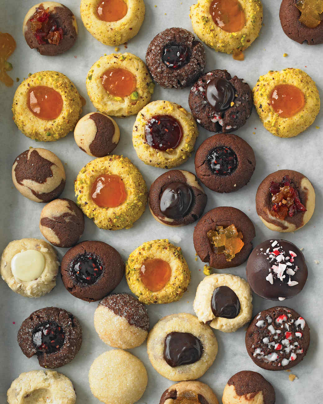 thumbprint christmas cookies