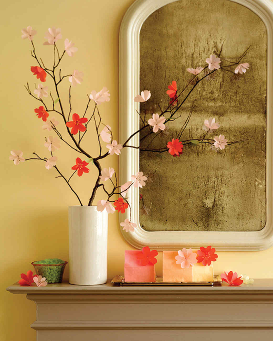 Paper Cherry Blossom Display | Martha Stewart