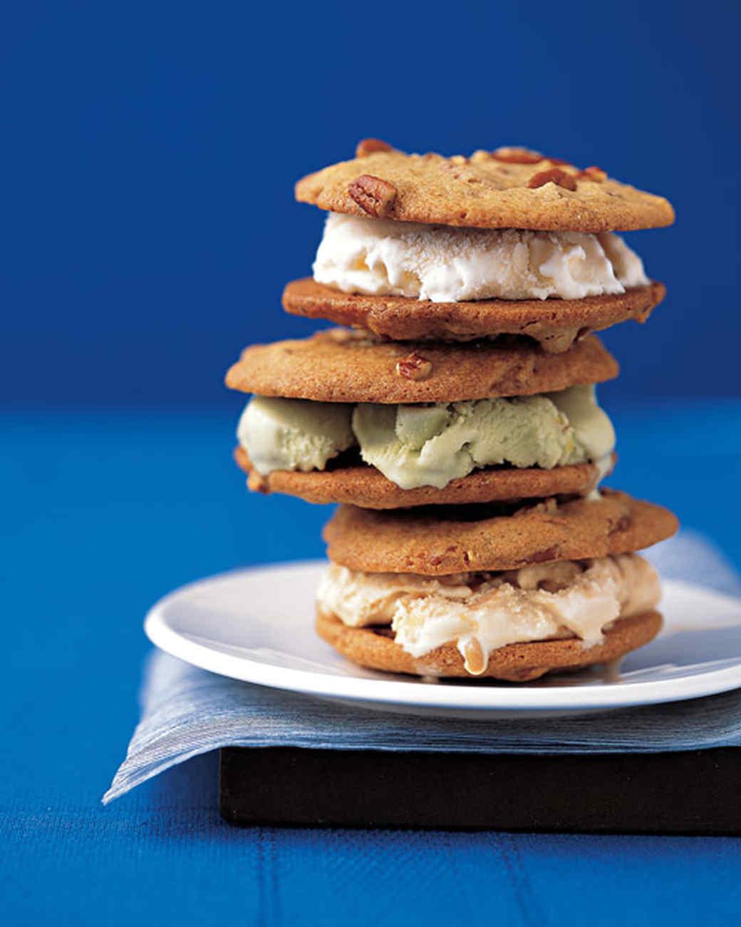Easy Pecan-Cookie Ice-Cream Sandwiches