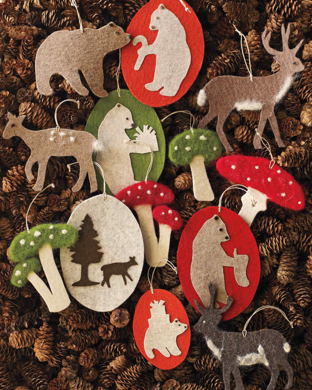 20 of our most memorable diy christmas ornament projects martha stewart - Animal Christmas Decorations