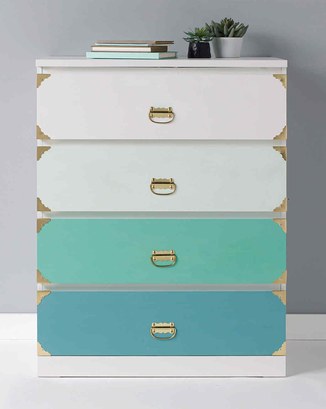 plaid ombre dresser - 24 Easy, Elegant Ways To Paint Any Piece Of Furniture Martha Stewart