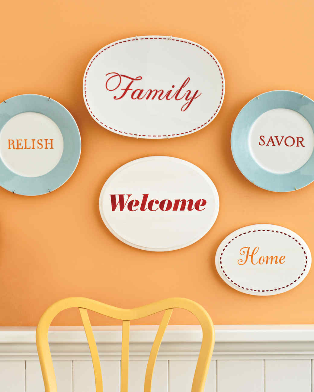 Martha Stewart Craft Paint Inspirational Plates