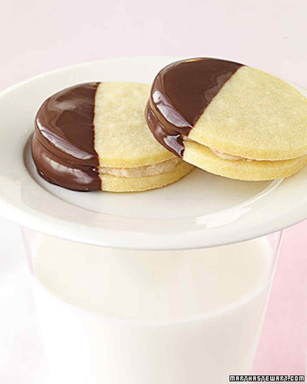 Butter Cookie Sandwiches with Chestnut Cream