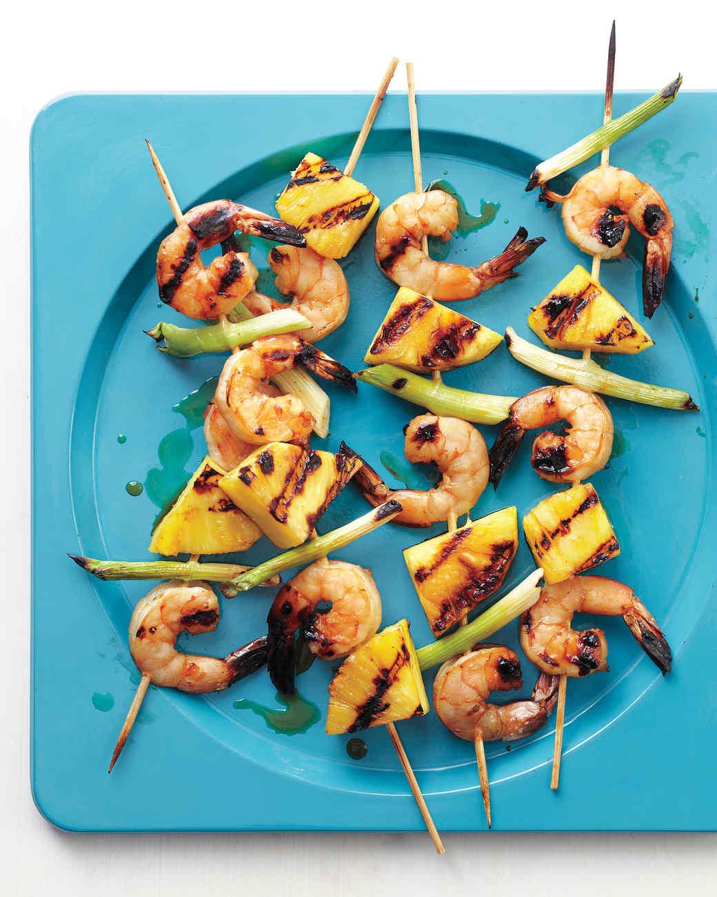 Shrimp-and-Pineapple Skewers