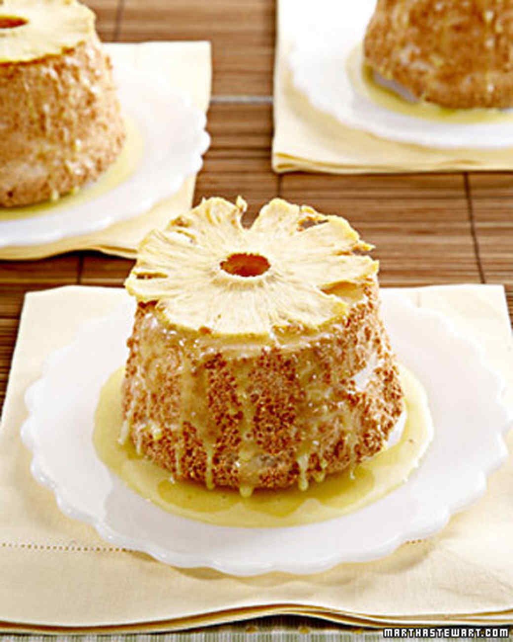 Pineapple Angel Food Cakes