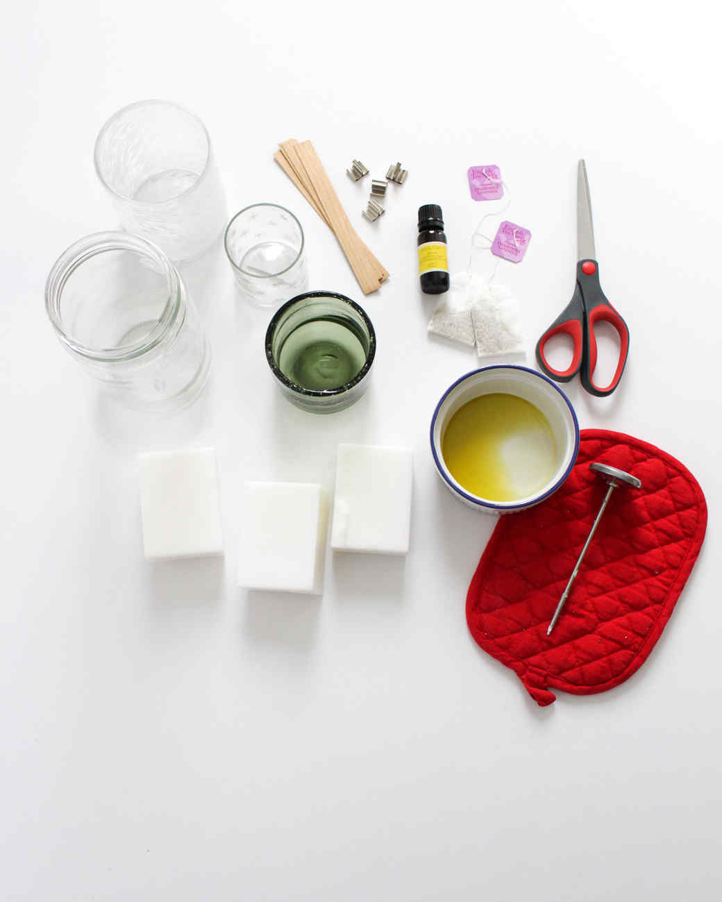 diy tea scented candle materials