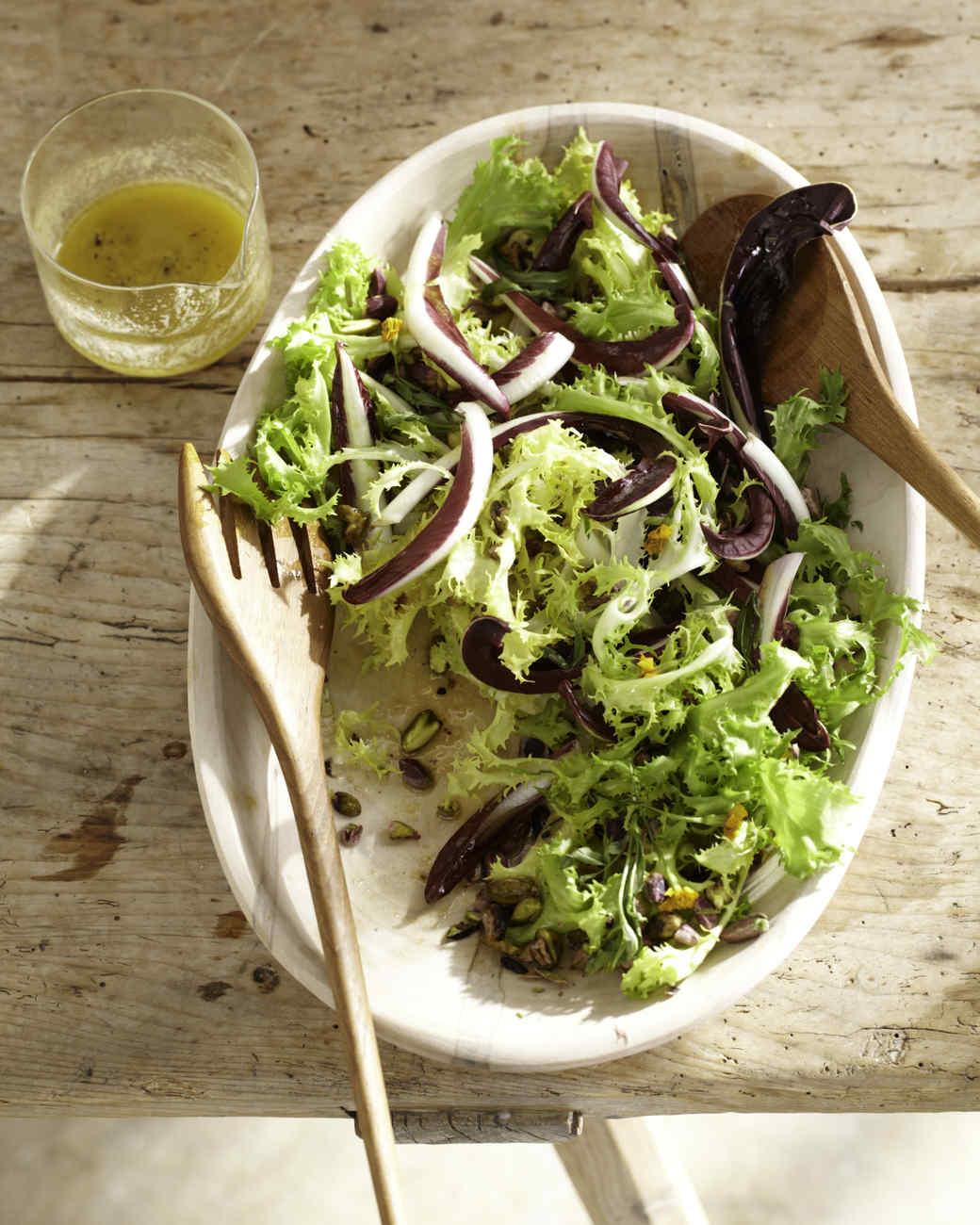 Frisee Salad with Pistachios and Dijon Vinaigrette