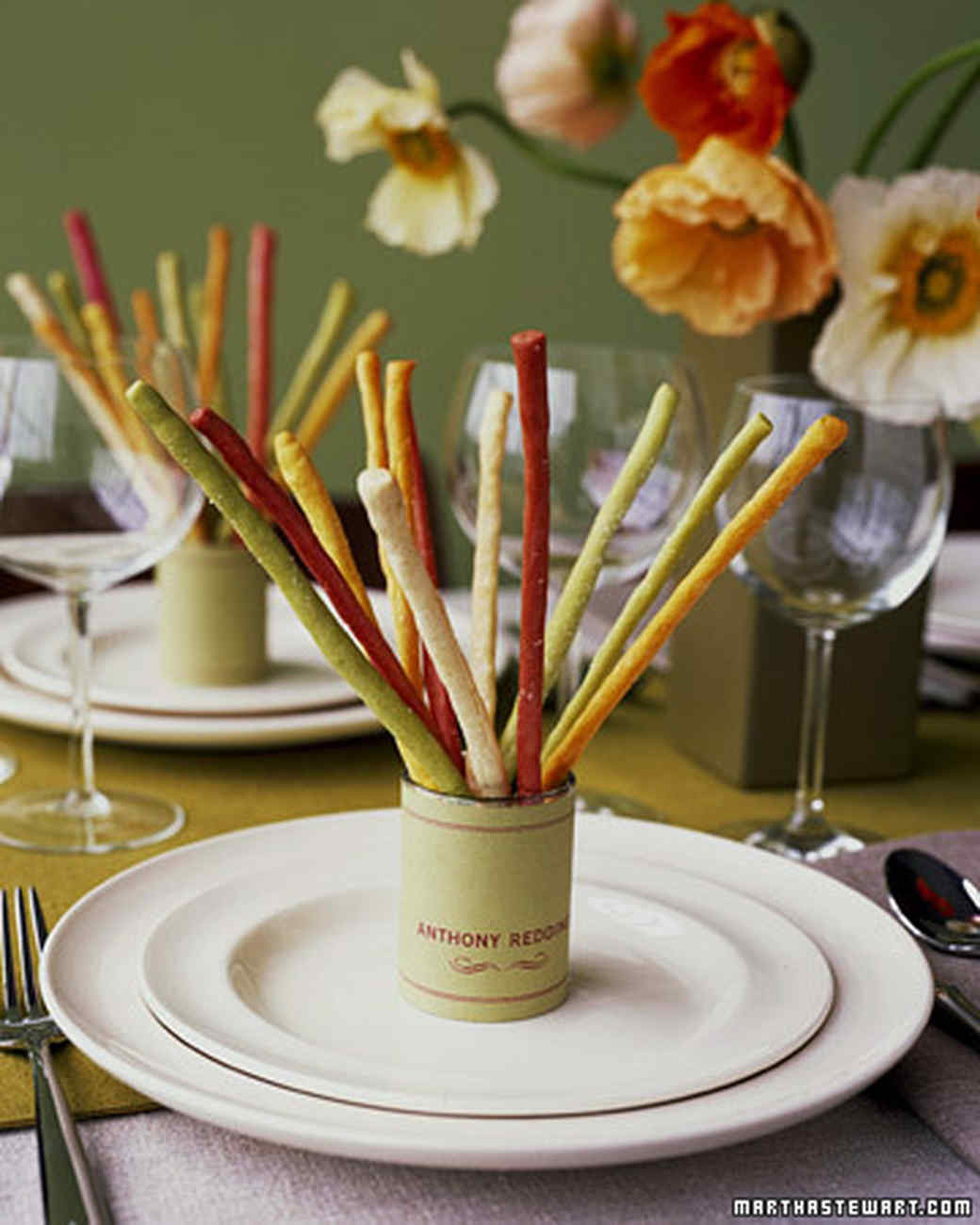 Flavored Breadstick Place Cards
