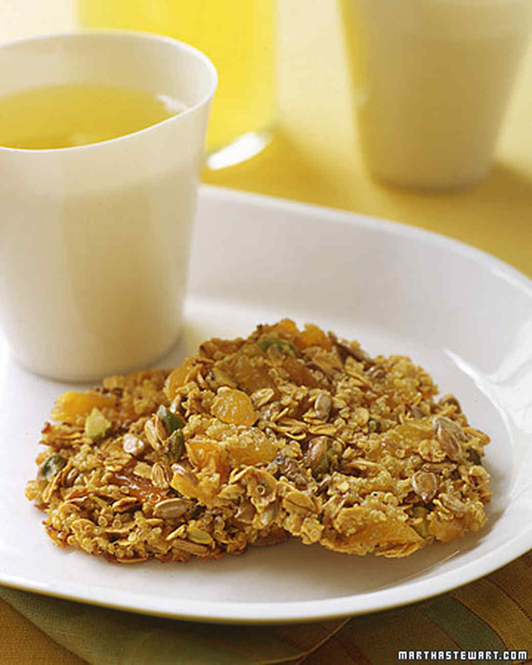 Quinoa, Apricot, and Nut Clusters