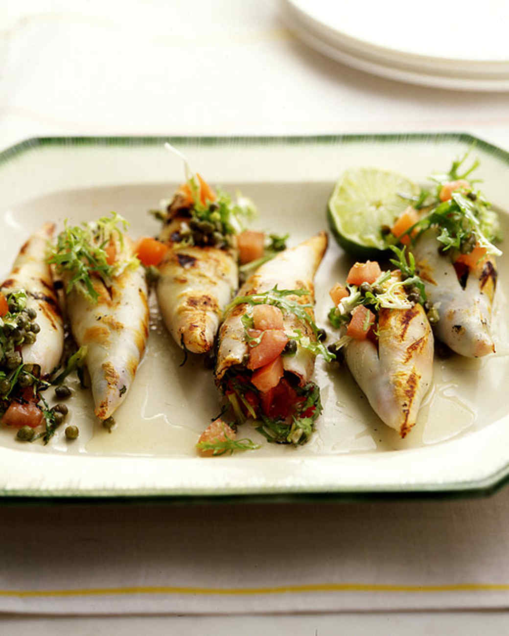 Grilled Stuffed Calamari