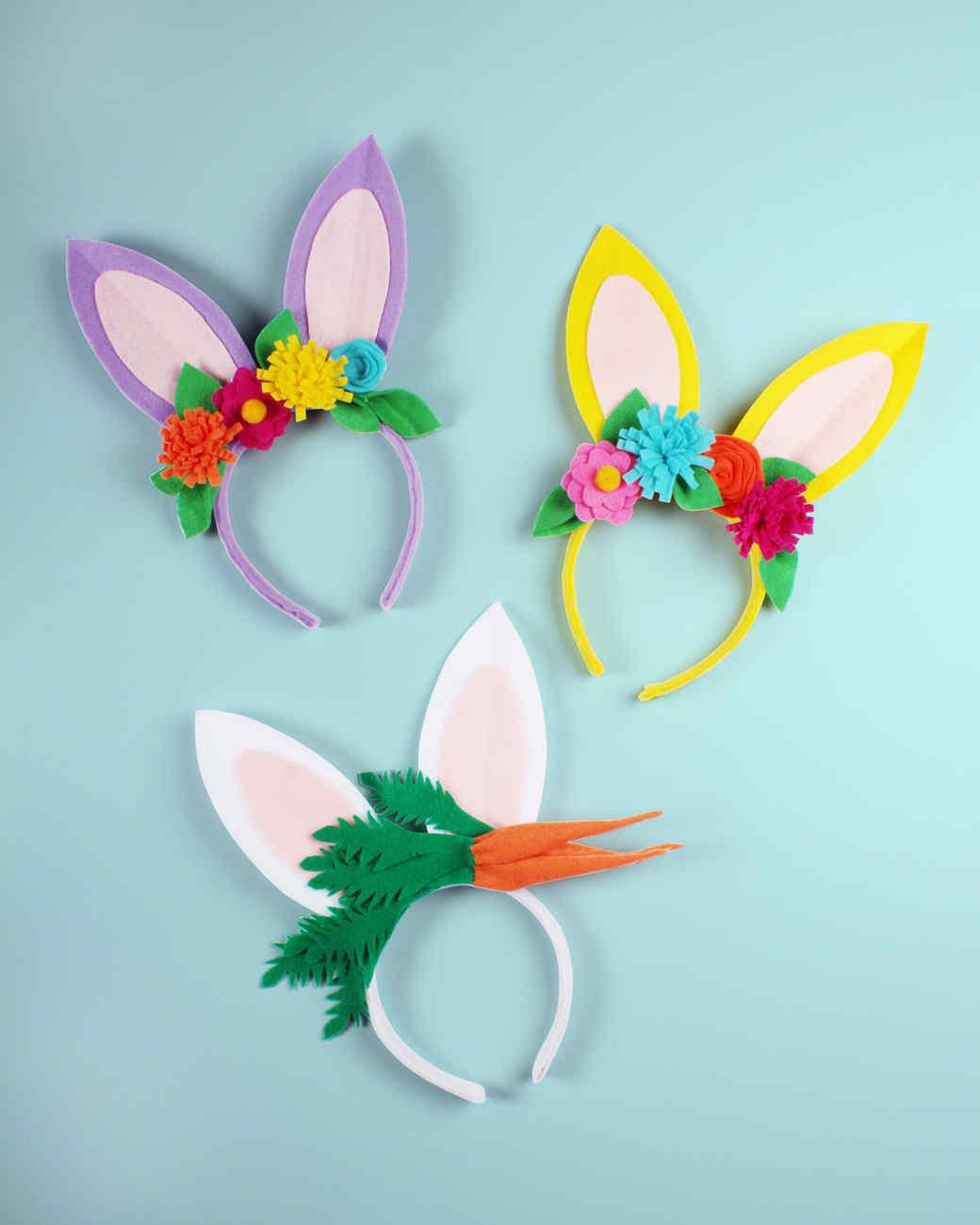felt bunny headbands