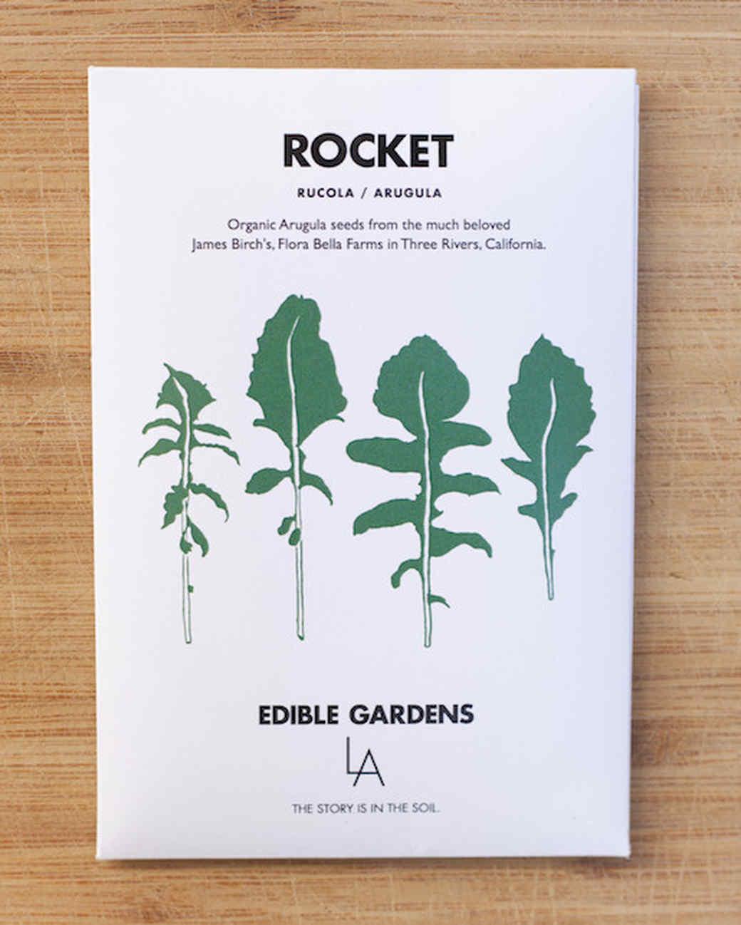 edible gardens rocket seed packet