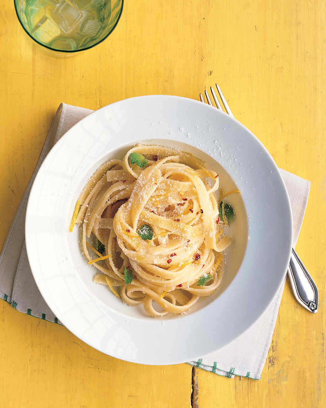 Fettuccine with Lemon, Mint, and Parmesan